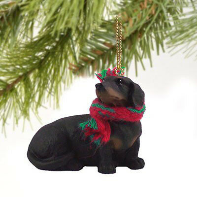 Dachshund Black Dog Tiny One Miniature Christmas Holiday ORNAMENT