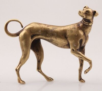 Rare Chinese Brass Statue Old Animal Greyhound Solid Casting Handicraft Collec