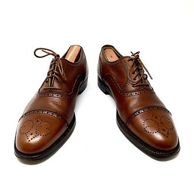 62345ceebe5 GUCCI Vintage 70s Brown Wingtips Leather Oxfords Italy Brogue EU 42.5 D US  9 M