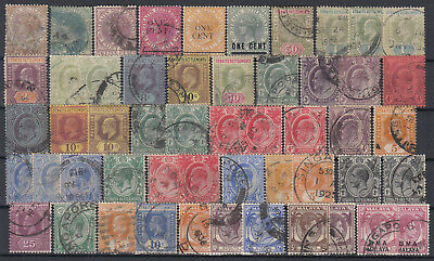 MALAYA / Straits Settlements ☀ nice collection / lot of 50 used stamps ☀ scan