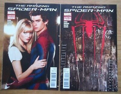The Amazing Spider-man The Movie #1 and #2 from 2012