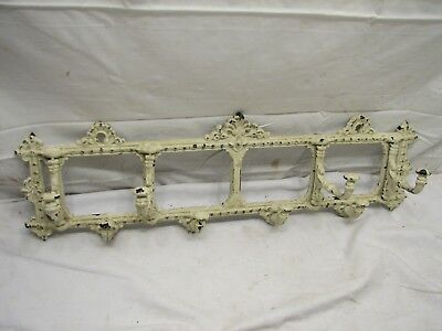 Antique Victorian Hall Wall Coat Rack Hook Ornate Cast Iron Swivel Industrial