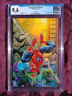 🔥🔥amazing Spider-Man #1 Ottley Virgin Variant 1:200 9.6 Cgc Beautiful Art!🔥🔥