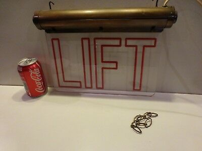 Art Deco Illuminating Sign Lift Odeon Cinema Theatre Vintage Unusual