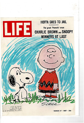 March 1967 Life Cover Charlie Brown Snoopy Schultz Ad Print C555