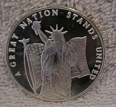 United States Freedom Collection  Statue of Liberty Sept 11 - .999 Silver Round