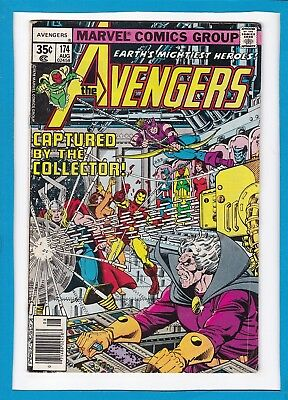 Avengers #174_August 1978_Fine_The Collector_Beast_Thor_Vision_Bronze Age!