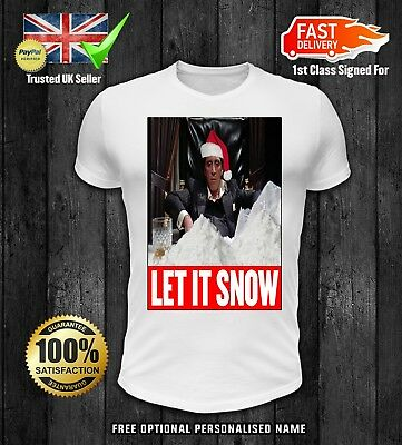 Scarface Let It Snow Christmas Sweater Jumper Xmas Funny Tony