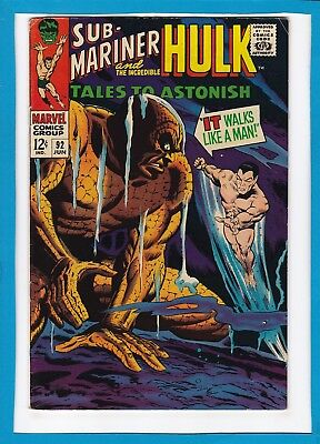 Tales To Astonish #92_June 1967_Very Fine Minus_Hulk_Sub-Mariner_Silver Surfer!