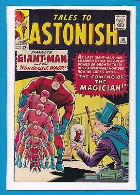 TALES TO ASTONISH #56_JUNE 1964_VF_GIANT-MAN_THE WASP_1st APP THE MAGICIAN!