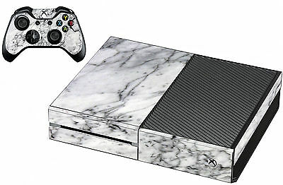 Cover// Wrap for Microsoft Xbox One S Xbox One S White Marble Console Skin