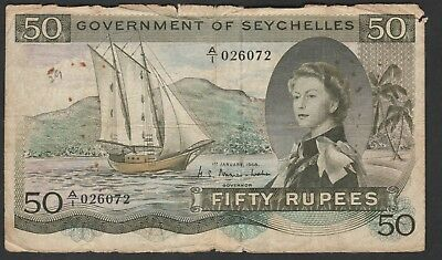 50 Rupees From Seychelles  1968