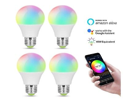 Smart E27 bulb RGBW 4.5W Colour Compatible with Alexa and Google Devices X4 BULB