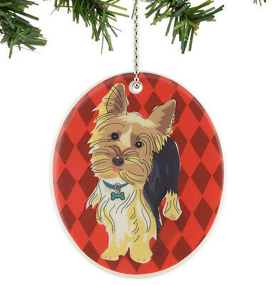 * GO DOG PAPER RUSSELL Hanging Ornament YORKSHIRE TERRIER Puppy YORKIE Holiday