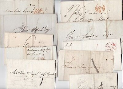 1807/40 10 PRESTAMP LETTERS FROM EDINBURGH H/S 1 PAID CDS - 99p START FOR XMAS!!
