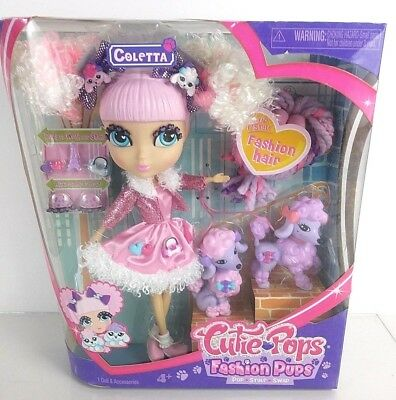 Cutie Pops Fashion Pups Coletta Doll Swap n Style with 2 Fashion Pups Accesories