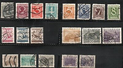 1925-32 Austria  Lot of 19 stamps