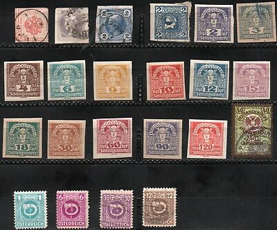 Austria  Lot of 22 stamps