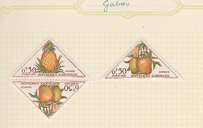 GABOR COLLECTION Pineapple, Mango on Old Book Pages,as per scan #