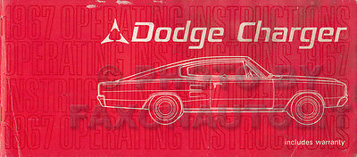 1969 Dodge Charger Owners Manual 69 Owner Guide Operators Book SE and RT