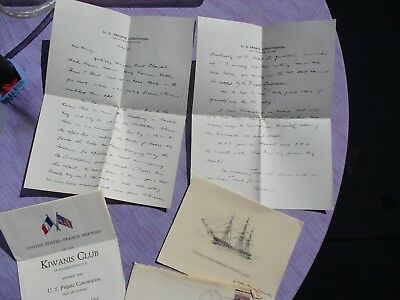 "1932 Commander of ""Old Ironsides"" Louis Gulliver signed Ship Constitution lot!"