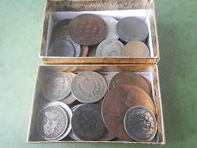 50+ Lot Of Various Foreign Coins INCLUDES 1800s and SILVER Coins Lot #150