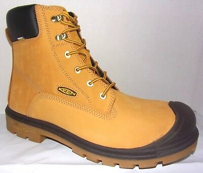 "NIB Keen Utility Baltimore WP Wheat Leather Steel Toe 6"" Work Boots"