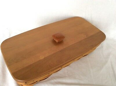 Warm Brown BREAD Basket Lid Only Longaberger Used