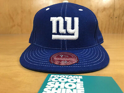 b2fa00849af3ae Mitchell & Ness Nfl New York Ny Giants Logo Wool Fitted Hat Blue White 7 1