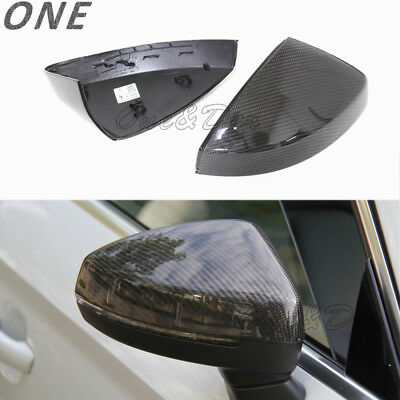 DRY Carbon Fiber Side Mirror Casing Cap For 2014-2018   A3 S3 RS3 Add On DN
