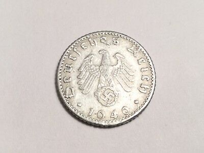 GERMANY Third Reich 1940-A 50 Pfennig coin nice condition, couple nicks