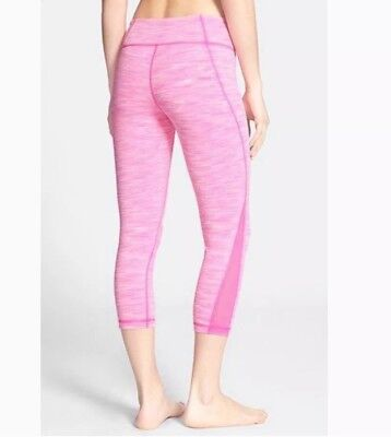 827c0dbe482967 Zella Live In Streamline Mesh Capri Small S Hot Pink Heather Legging Pant  Crop