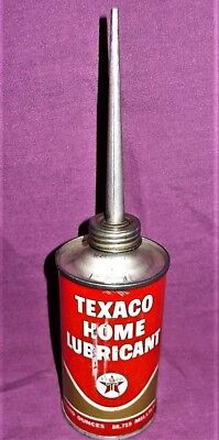 Vintage 3 Oz. Texaco Home Lubricant Oil Can