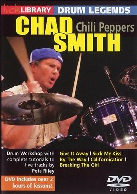 Drum Legends Chad Smith Chili Peppers Lick Library Dvd!