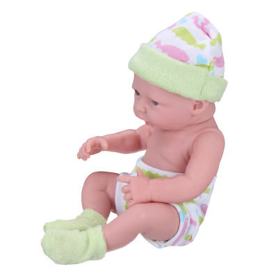 Newborn Baby Doll Gift Toy Soft Vinyl Silicone Lifelike Educational Kids Toddler