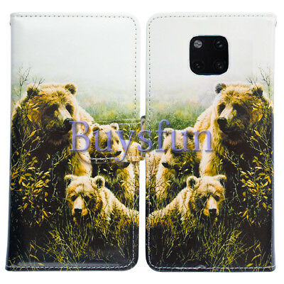 Bcov Cute Bears Style Wallet Leather Cover Case For Huawei Mate 20 Pro