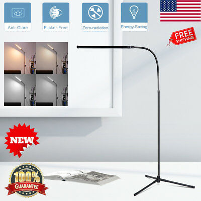 Flexible LED Floor Lamp Standing Dimmable Gooseneck Desk USB Home Reading Lights