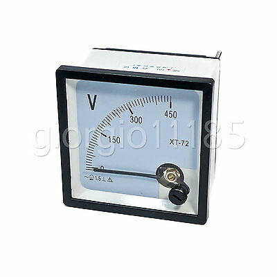 US Stock AC 0~450V Square Analog Volt Pointer Needle Panel Meter Voltmeter XT-72
