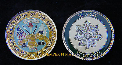 Lieutenant Colonel Us Army Challenge Coin O5 Military Rank Pin Up Promotion Gift