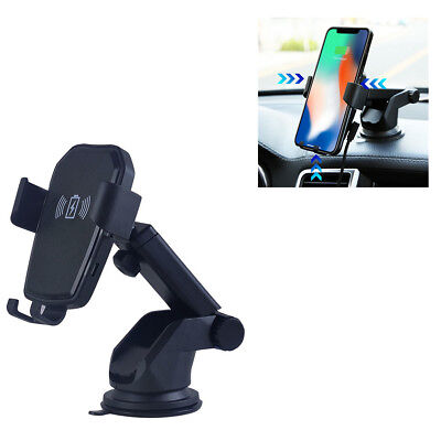 Qi Wireless Fast Charger Car Mount Holder For iPhone X/8 Samsung Note 9