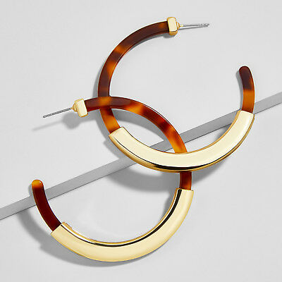 Unique Tassiana Resin Hoop Women's Geometric C Shape Hot Earrings Girl's Gift 2x