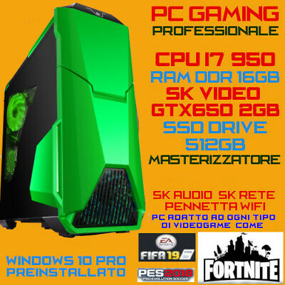 COMPUTER PC FISSO GAMING ALIEN INTEL Core i7-950 RAM16GB SSD512GB GTX650-2G