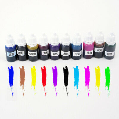 10ml Translucent Pigments For Clear Casting Resin Epoxy&Polyester Colour Dye~New