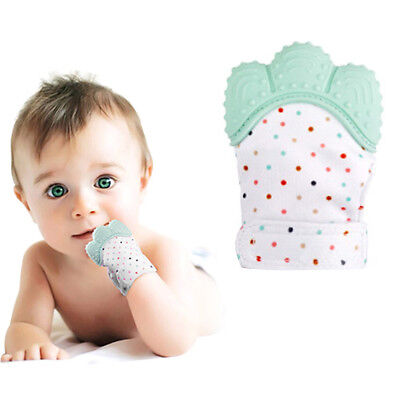 Silicone Baby Teether Teething Mitt Mitten Glove Safe BPA Free Chew Dummy Toy