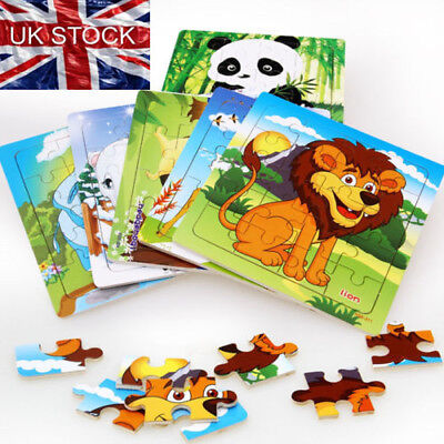 Puzzle Jigsaw Toddler Early Learning Baby Educational Toys Wooden Cartoon Animal