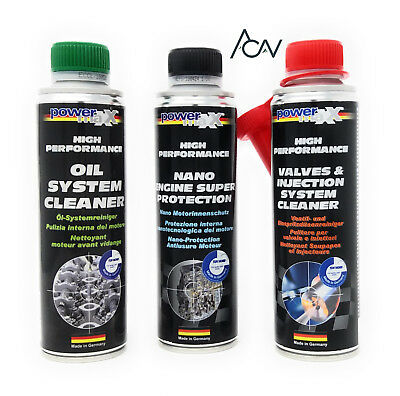 Powermaxx Pulitore Valvole, Nano Engine, Oil System Cleaner - Kit Motori Benzina