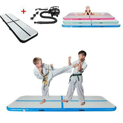 10FT Airtrack Air Track Floor Inflatable Home Gymnastics Tumbling Mat GYM / Pump