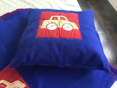 childrens car blanket and cushion