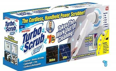 As Seen On TV-TURBO SCRUB 360 -GENUINE-HANDHELD POWER SCRUBBER