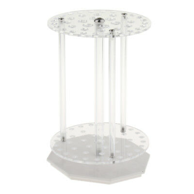 1Pc Circular PMMA Transparent Removable Pipette Rack, Can Place 6 Pipettes